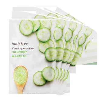 Innisfree It's Real Squeeze Mask- Cucumber 20ml (Set of 5)