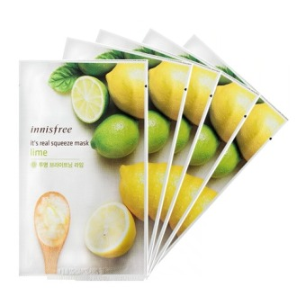 Innisfree It's Real Squeeze Mask- Lime 20ml (Set of 5)