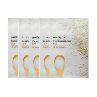Innisfree It's Real Squeeze Mask (Rice) 5 pcs. Korean Cosmetics