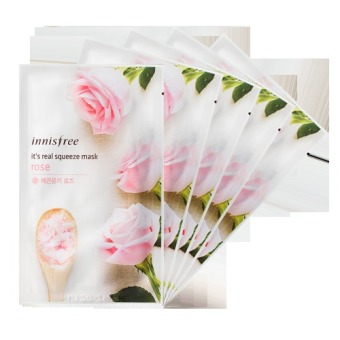 Innisfree It's Real Squeeze Mask- Rose 21g (Set of 5)