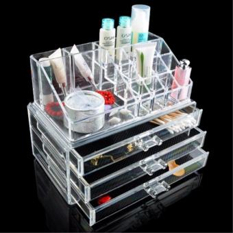 J&J Acrylic Jewelry Makeup Cosmetic Organizer Case Display Holder Drawer Box Storage