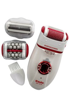 Keda 3in1 Callus Remover Electric Rechargeable Epilator HairRemoval Lady Shaver