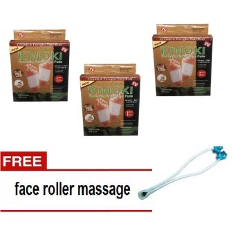 Kinoki Foot Pads gold Set Of 3 With Free Face Roller Massager