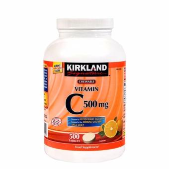 Kirkland Chewable Vitamin C 500Mg 500 Tablets