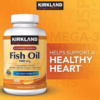 Kirkland Signature Fish Oil Concentrate with Omega-3 Fatty Acids, 400 Softgels, 1000mg Price Philippines