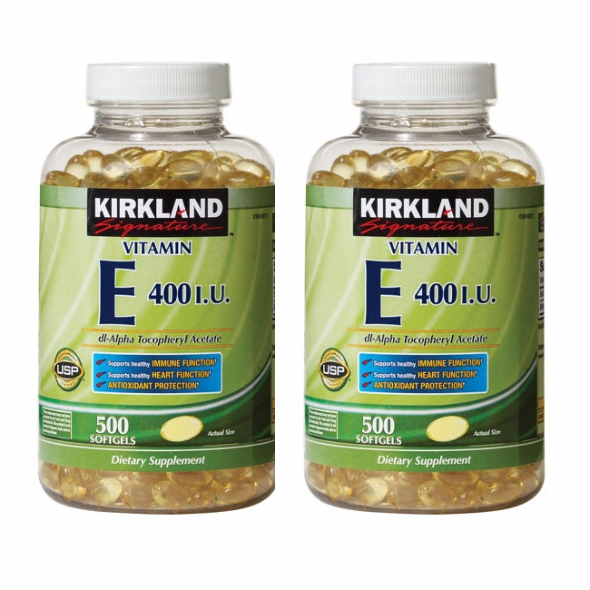 Philippines Kirkland Vitamin E 500 Soft Gel Capsules Set Of 2 C 1000mg