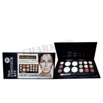 Kiss Beauty Create Charming MakeUp face Contour Kit 16 Colors with Brush Sets Makeup tool 5 sets - 2
