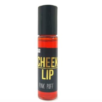 KJM All Natural Cosmetics Cheek & Lip Stain Pink Puff with FREENose Up Lifting Clip (Pink)