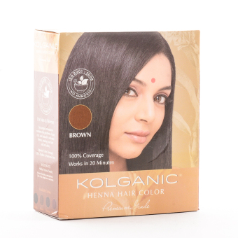 Kolganic Henna Hair Color Premium Grade 10g (Brown)