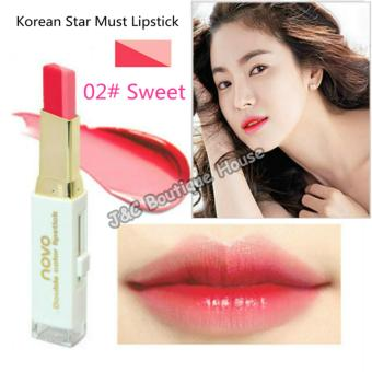 Korea NOVO Double Color Lipstick Makeup Moisturizing Color Gradient Lipstick #2