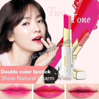 Korea NOVO Double Color Lipstick Makeup Moisturizing Color Gradient Lipstick #4 - 4