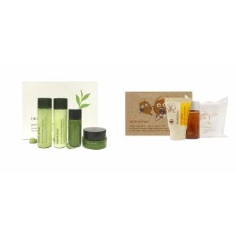 Korean Cosmetics Innisfree Green Tea Special Kit ( 4 Items ) WithInnisfree Jeju Volcanic Pore Care Kit (3 items)