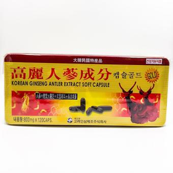 Korean ginseng antler extract soft capsules 800mg 120's