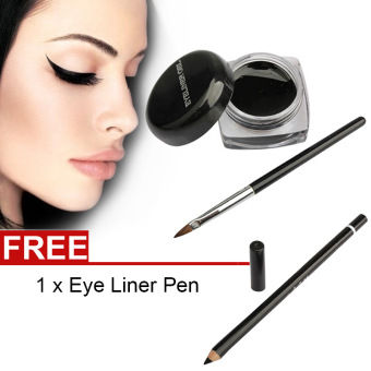 La Vie Eye Liner Makeup Waterproof Eyeliner Gel Cream With Brush +Eyeliner Pen
