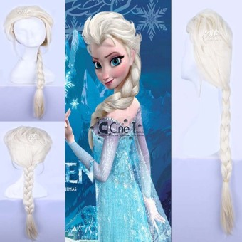 La Vie Princess Frozen Snow Queen Elsa Weaving Braid Wig (Light Blonde) - Intl Price Philippines