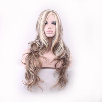 La Vie Sexy Heat Natural Long Wavy Curly Synthetic Fiber Front Women Wigs(Beige) - 3