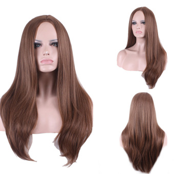 La Vie Sexy Long Central Parting Natural Full Women's Cosplay Wigs(Brown)