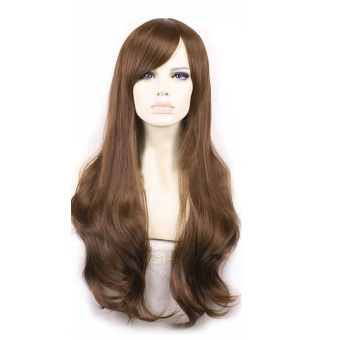 La Vie Soft Hair Sexy Long Wave Synthetic Hair Full Lace CosplayWomen Wigs(Light Brown)
