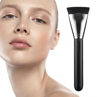 LaVie Flat Contour Face Brush Blending Powder Blush Brush(Black) -Intl