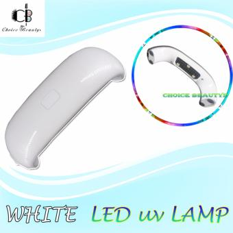 LED UV Lamp for Nails Gel Dryer Nail Lamp Phone Shape Curing UV GelPolish Nail Art (WHITE)