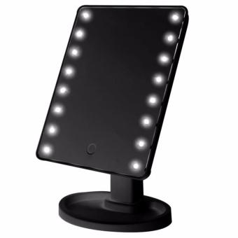 LED Vanity Makeup Mirror with Lights Table Lamp & Cosmetic Mirror (Black) - 2