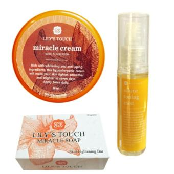 Lily's Touch Miracle Cream 50ml, Miracle Soap 90g, and Allure Toning Mist 50ml Bundle