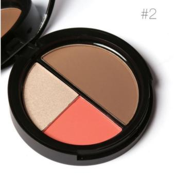 Long Lasting Natural Shimmer, Blush & Contour Palette #02(8.4g)