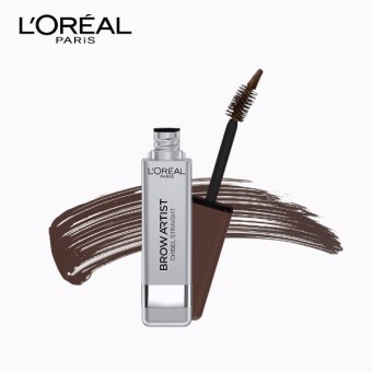 L'Oreal Paris Brow Artist Chisel Straight 2 in 1 Brow Mascara 6.5g (Light Brown)