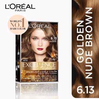 L'Oreal Paris Excellence Fashion Hair Color 14g (No.6.13 GoldenNude Brown) Price Philippines