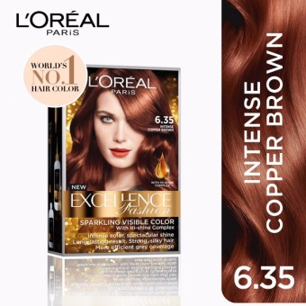 L'Oreal Paris Excellence Fashion Hair Color14g(No.6.35IntenseCopper Brown) Price Philippines