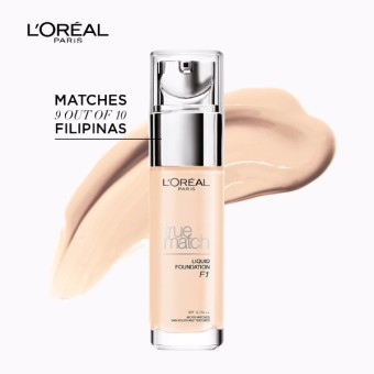 L'Oreal Paris True Match Liquid Foundation 30ml (F1 Rose Ivory)