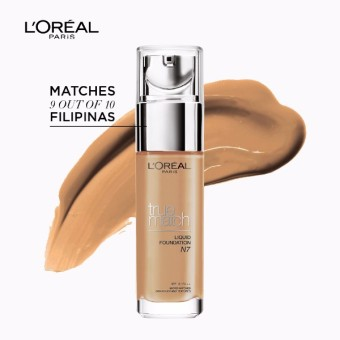 L'Oreal Paris True Match Liquid Foundation 30ml (N7 Nude Amber)