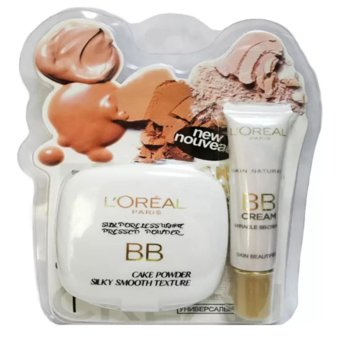 L'Oreal Silk Poreless White Bb Cake Pressed Powder With FreeL'Oreal Bb Miracle Cream Price Philippines