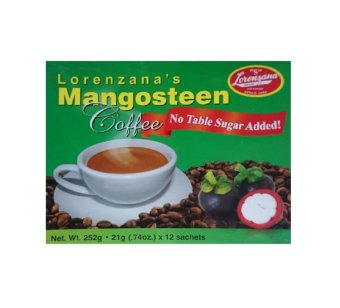 Lorenzana's Mangosteen Coffee, Sugar Free, Box of 12 sachets