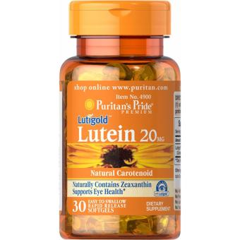 Lutein 20 mg with Zeaxanthin, For Eye Care 30 Softgels Puritan's Pride