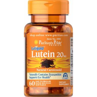Lutein 20 mg with Zeaxanthin,Eye & Vision Care, 60 softgels, Puritan's Pride
