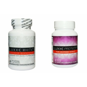 LUXXE WHITE(R) 60 Capsules (775mg) with FREE LUXXE PROTECT(R) Pure Grapeseed Extract 30 Capsules (500mg)