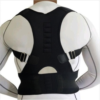 Magnetic Back Support Shoulder Posture Corrector Medical MassageBelts -XL - intl Price Philippines