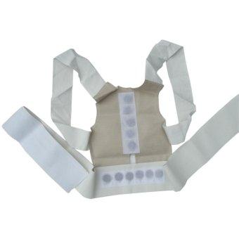Magnetic Posture Humpback Support Corrector Belt Back Brace Strap(Size:L) - intl - 2