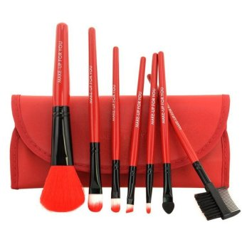 Make-Up For You Makeup Brush 7-piece Set (Red) Price Philippines