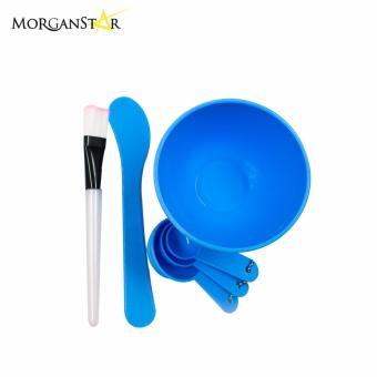 Makeup Beauty DIY Facial Face Mask Bowl Brush Spoon Stick Tool Set(Blue)