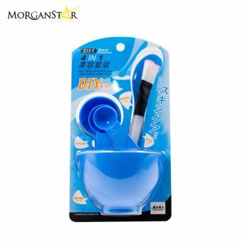 Makeup Beauty DIY Facial Face Mask Bowl Brush Spoon Stick Tool Set(Blue) - 3