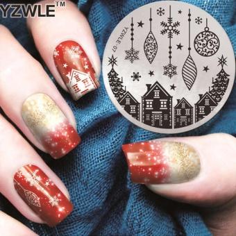 Buy latest 5pcs plastic nail art paint color mixing palette plate makiyo charming nail art diy print template nails image stencil stamp plates polish design tool 7 prinsesfo Images