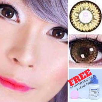 MAMA'S CHOICE CRYSTAL BIG EYE PEARL BROWN CONTACT LENS