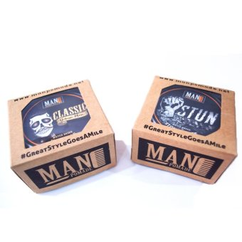 Man Pomade Classic and Stun (Water Based) 100g Bundle