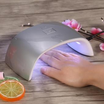 Manicure UV Nail Lamp 18W Led Gel Polish Cure Double Light Dryer Nailart Machine EU Plug Silver - intl - 4