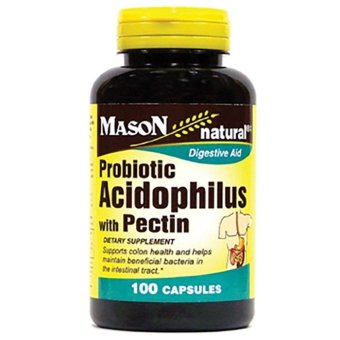 Mason Probiotic Acidophilus with Pectin Capsules Bottle of 100