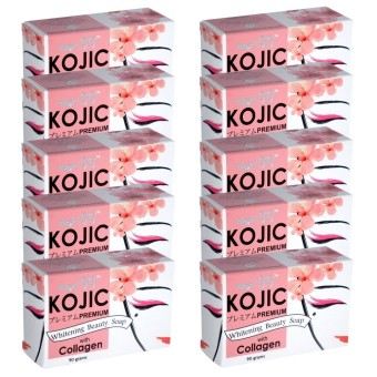 Maxi 99 Kojic Whitening Beauty Soap with Collagen Set of 10 90g