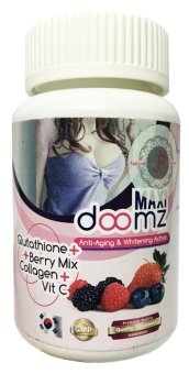 Maxi Doomz Glutathione, Berry Mix, Collagen, Vitamin C 30 Capsules,Bottle of 1