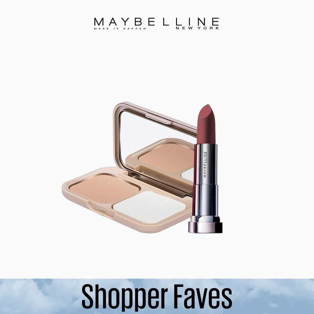 Maybelline Dream Powder Foundation B3 Natural + Touch of Nude Lipstick [EXCLUSIVE BUNDLE] Philippines